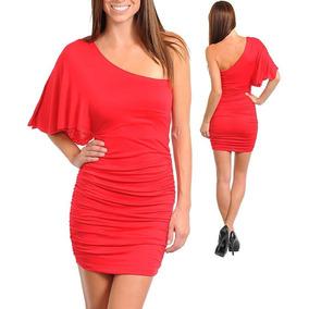 Vestido Rojo Sexy 1 Hombro Nuevo!