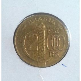 Moeda De Bronze 2000 Réis 1937 Duque De Caxias No Coin Holde