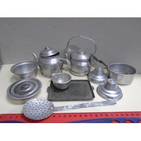 Lote Utensilios De Cocina Aluminio Ind. Arg. De Juguete