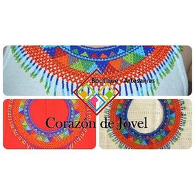Lote 25 Collares Artesanal/chiapanecos Coloridos De Chaquira