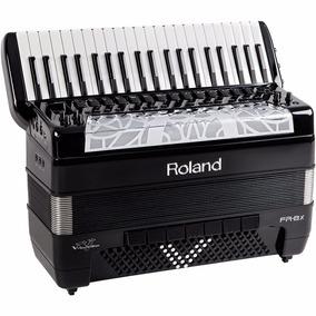 Sanfona Acordeon Roland Fr8x Elétrico Fr-8x Bk Preto Com Bag