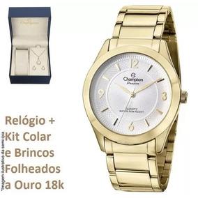 113e26f06a1 Relógio Champion Feminino Dourado Redondo Cn28866h - Relógios De ...