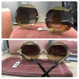 d8eabfe9e6835 Oculos Miu Miu Round no Mercado Livre Brasil