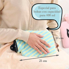 Funda De Tela Para Bolsa Agua Caliente Fría Cólico Menstrual