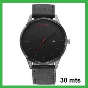 Reloj Hombre Casual Marca De Lujo Correa Cuero Negro