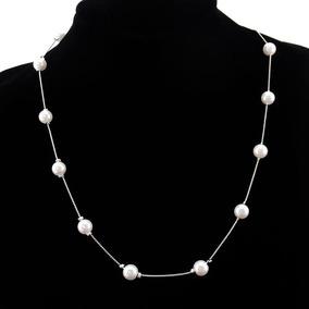 ef387be750fc Hermoso Collar De Perlas Color Melon - Collares y Cadenas en Mercado ...