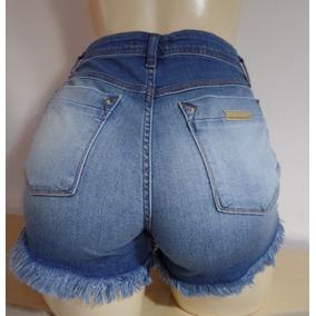 Shorts Jeans Cintura Alta Feminino Mais Brinde