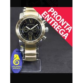 Relógio Masculino Original Atlantis Estilo Social Barato