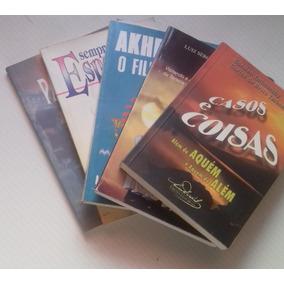 Livro Lote 5 Livros Diversos Autores Romance Espirita 01