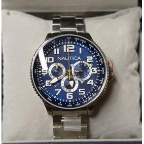 Reloj Nautica N25522 Acero Inox Dial Azul