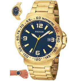d49ed25f59f Relogio Magnums Masculino Dourado - Relógio Magnum Masculino no ...