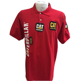 Playera Tipo Polo Cat Caterpillar Talla Xl Roja