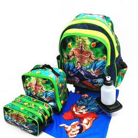 Kit Mochila Costas Infantil Escolar Dragon Ball Z Promoção