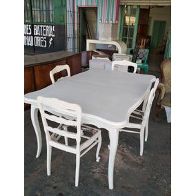 Juego De Comedor Shabby Chic - Muebles Antiguos en Mercado Libre ...