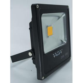 Refletor De Led 20w Luz Amarela Ambar Ip66