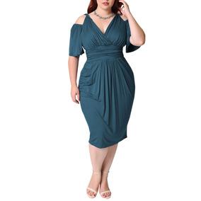Elegante Vestido Casual Dama V-cuello Moda Fiesta Multicolor