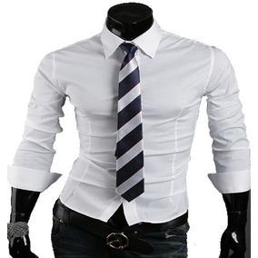 4c1c66249 Camisa Social Slim Branca - Camisa Social Manga Longa Masculino em ...