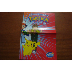 Figurinhas Arcor Pokemon Atrapalos Ya / Album Poster Vazio
