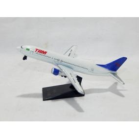 Antiga Miniatura Avião Varig Tam Boeing 737 - Metal 12,5 Cm