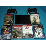 Playstation 2. Ps2 Con Chip Y 6 Películas Originales