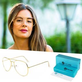 34551b5127caa Oculos De Grau Aviador Feminino Dourado - Óculos no Mercado Livre Brasil