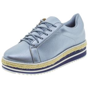 Sapato Feminino Oxford Flatform Jeans Vizzano - 1241105