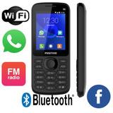 Celular P/ Idoso 3g Botão Whatsapp Dual Chip Preto Wifi P70
