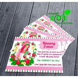 50 Convites Personalizado Aniversário - Moranguinho - 01