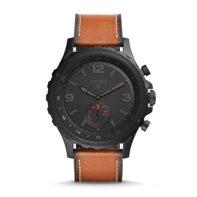 Fossil - Smartwatch Tw1114 Q Nate Leather Hybridf Para Hombr