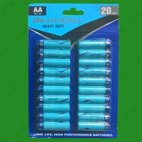 Pilhas Readycell Pequena Aa - Kit Com 20 Pilhas