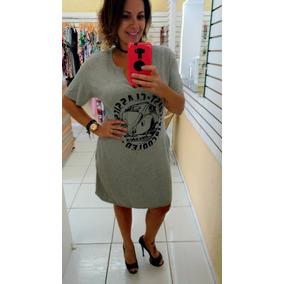 Vestido Decote V Com Bolso - Plus Size
