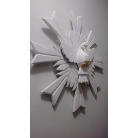 Divino Espírito Santo Com Resplendor Madeira 50cm