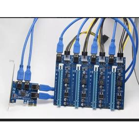 Adaptador Multiplicador Rise Pcie 1 Porta Para 4