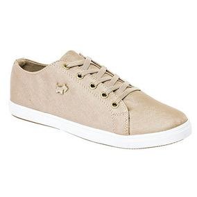 Tenis Sneaker Ferrioni Niños Textil Dorado K53317 Dtt