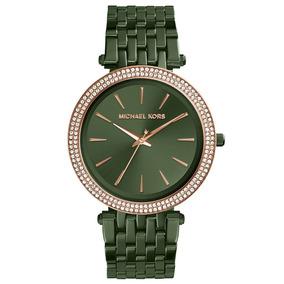 428cd293b7b Relogio Michael Kors Feminino Prata Verde - Relógios De Pulso no ...