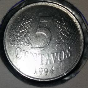 Moeda De 5 Centavos Rara Cabecinha/mula 1994