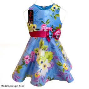 Vestido Infantil Formal Fiesta Forrado Crinolina Niña Floral