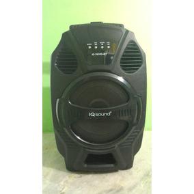 Caixa De Som Amplificada Iqsond -portátil -bluetooth-usb
