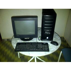 Desktop Intel Com Monitor Crt (para Retirada De Peças)
