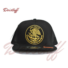 Gorra Top Level / Negra / Escudo Mexico / Jalisco / Sb