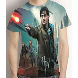 Camisa Camiseta Harry Potter E As Relíquias Da Morte