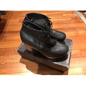 Botas Acordonadas Taco Madera 38 - Zapatos de Mujer en Mercado Libre ... 4db966dc527