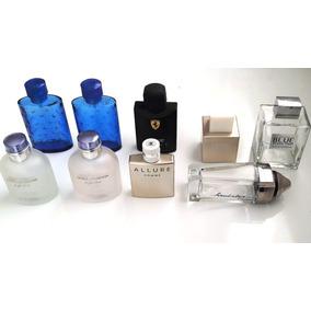 e0ed610de0c Frascos Vazios Perfumes Importados Vidros D g Chanel Cartier