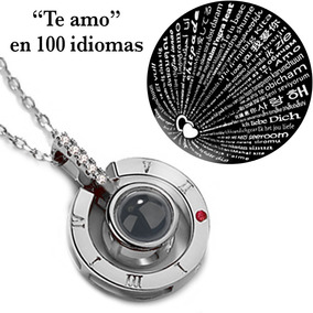 Collar Te Amo 100 Idiomas I Love You Acero Inoxidable