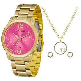 00820026124 Relogio Feminino Estilo Flores Rosa Lince - Relógio Feminino no ...