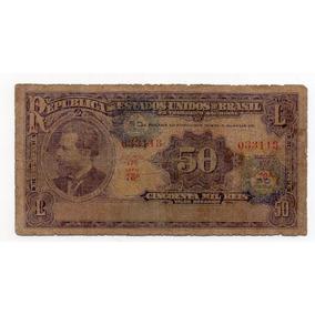 C005 50 Mil Reis Com Carimbo De Cruzeiro