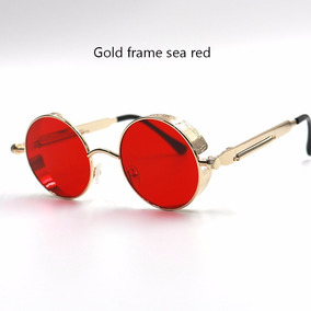 Oculo Redondo Haste Dourada De Sol - Óculos no Mercado Livre Brasil 8a922bc4d5