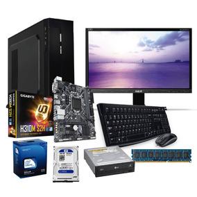 Computadora Pentium G5500 8va 3.6ghz 500gb, 4gb, 19led