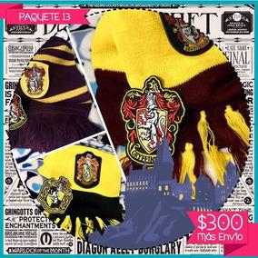 Paquete 13 Harry Potter Bufanda Escudo Gryffindor Hufflepuf