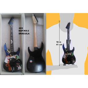 Mini Guitarra Electrica Metallica Esp Kh - 2 Escala 1:2.5